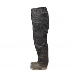 Camo tactical trousers BLACK MULTICAM army pants
