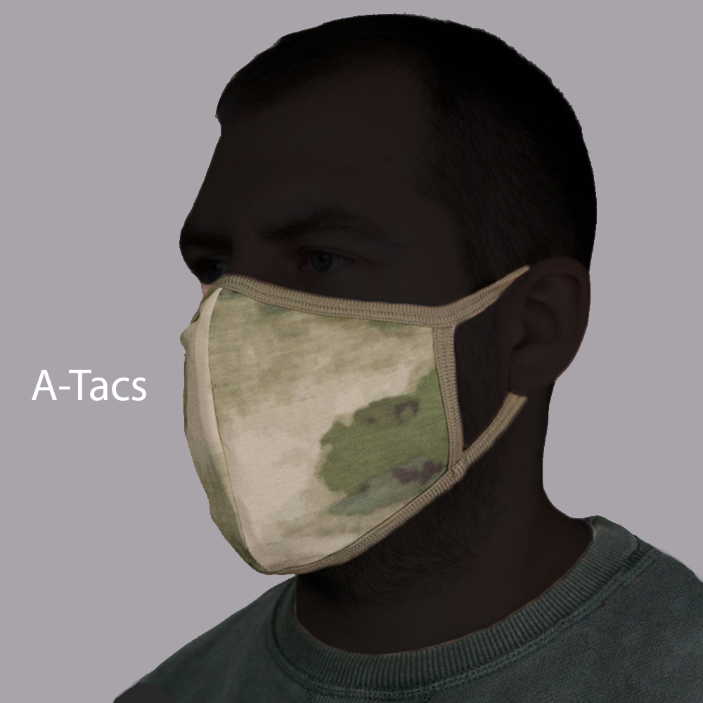 Set of 3 Tactical Protective Face Masks Knitwear Сamo BARS