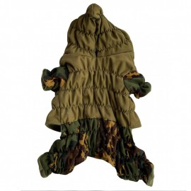 "Outdoor ""Gorka"" dog type FLEECE uniform partizan camo high-quality waterproof military wear with a hood"