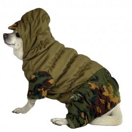 "Russian tactical ""Gorka"" dog type NO FLEECE hooded uniform partizan camo high-quality waterproof military suit"