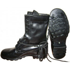 Russian Marines military tactical black leather airsoft  boots