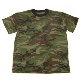 Russian Army GREEN CAMO T-SHIRT Military Camouflage