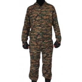 "KLM Sniper tactical Camo uniform on zipper ""DIGITAL DARK"" pattern BARS"