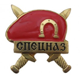 Russian Military SPETSNAZ BADGE Red Beret SWAT