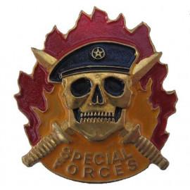 Russian SPECIAL FORCES metal Badge SPETSNAZ Black Beret SWAT