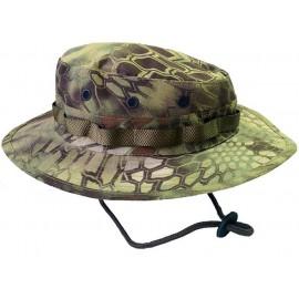 Panama Python wooden camo boonie hat summer cap