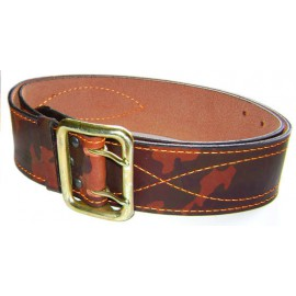 Russian Army Officer CAMO Leather Belt