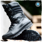 Russian tactical warm winter Assault leather BOOTS BLACK HIGHLAND 125